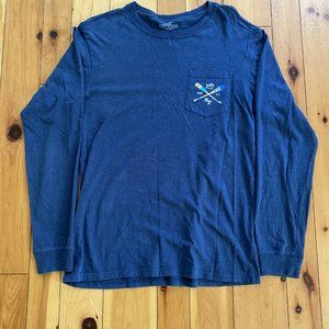 Navy Southern Tide Long-sleeve Tee